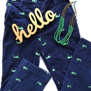 Lilly Pulitzer whale 🐳 Corduroy (DEFECT)